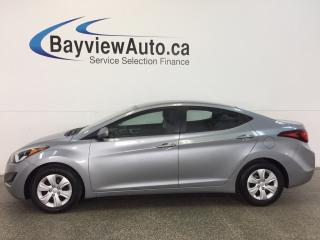 Used 2016 Hyundai Elantra L- 6 SPD! 1.8L! A/C! PWR GROUP! HTD STEERING WHL! for sale in Belleville, ON