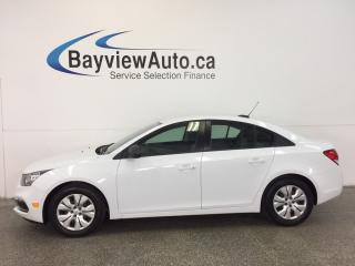 Used 2015 Chevrolet Cruze LS- 6 SPEED 1.8L LOW KM'S PWR GROUP BUDGET BUDDY! for sale in Belleville, ON