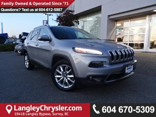 Used 2015 Jeep Cherokee Limited *ACCIDENT FREE*ONE OWNER*LOCAL BC CAR* for sale in Surrey, BC