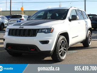 Used 2017 Jeep Grand Cherokee Trailhawk 4X4 LEATHER/SUEDE INTERIOR NAVIGATION SUNROOF AIR SUSPENSION ACCIDENT FREE for sale in Edmonton, AB