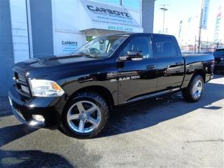 Used 2012 Dodge Ram 1500 Sport 4x4 Crew Cab, Leather, Heated Cooled Seats for sale in Langley, BC