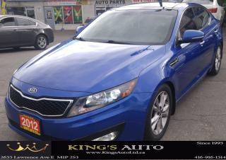 Used 2012 Kia Optima EX Turbo, LEATHER, PANORAMIC SUNROOF for sale in Scarborough, ON