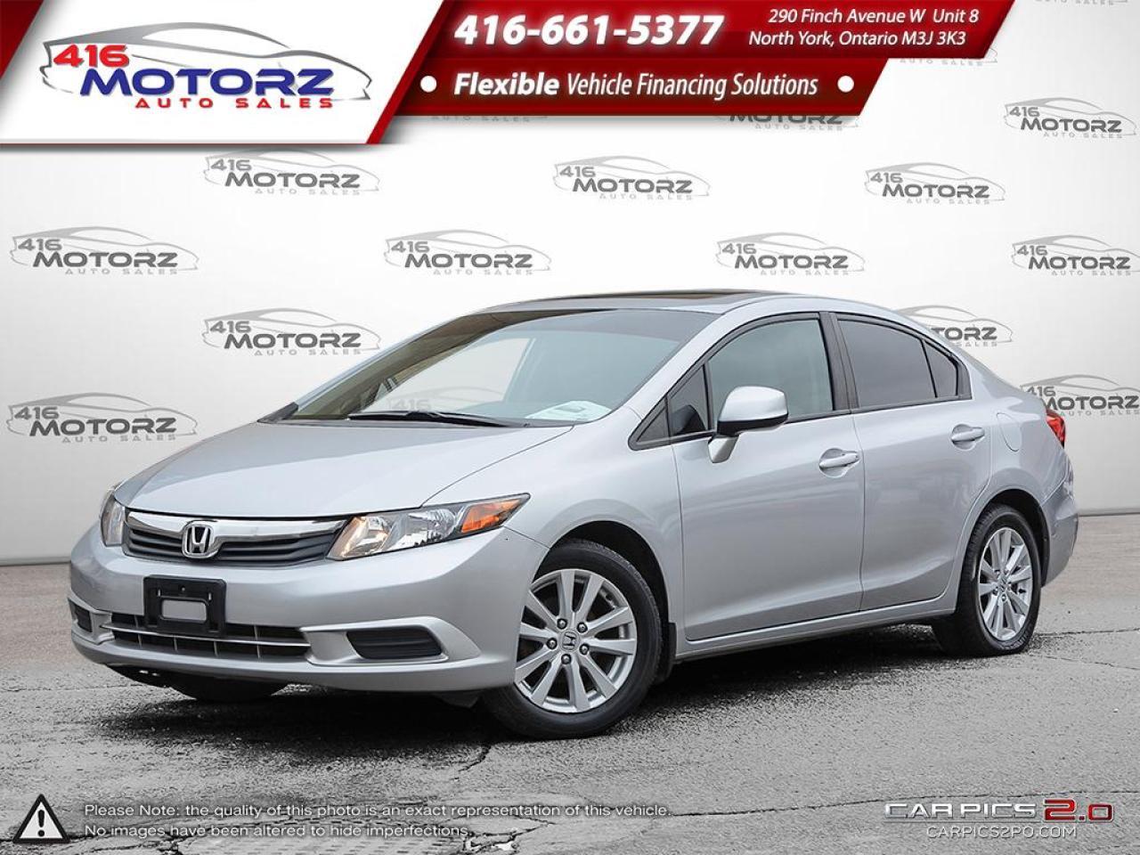 2012 Honda Civic Sedan EX  - Sunroof -  Bluetooth - $62.10 B/W
