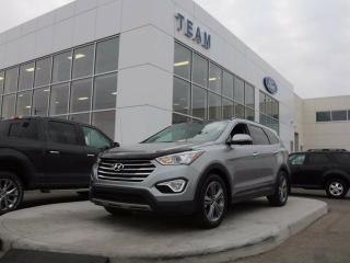 Used 2016 Hyundai Santa Fe XL LIMITED, ACCIDENT FREE, HEATED/COOLED FRONT SEATS, PANORAMIC ROOF, BLUETOOTH, NAV, REAR CAMERA, LTHER, AWD for sale in Edmonton, AB