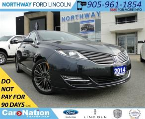 Used 2014 Lincoln MKZ NAV | REAR CAMERA | HEATED LEATHER | SUNROOF | for sale in Brantford, ON