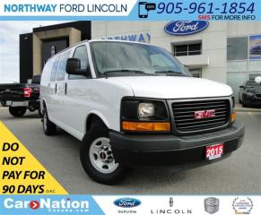 Used 2015 GMC Savana 2500 1WT   GREAT FOR A BUSINESS   for sale in Brantford, ON