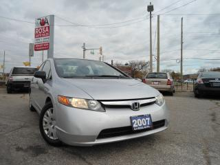 Used 2007 Honda Civic AUTO LOW KM AC NO RUST NO ACCIDANT PW PL PM for sale in Oakville, ON