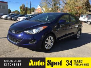 Used 2013 Hyundai Elantra GL/METICULOUS MAINTAINED/PRICED FOR A QUCK SALE! for sale in Kitchener, ON