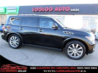Used 2011 Infiniti QX56 7 Passenger Navigation Camera DVD Certified for sale in Milton, ON