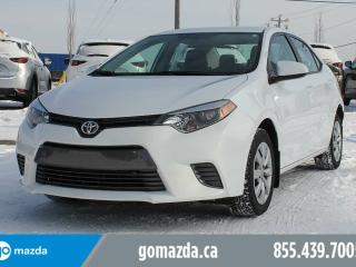 Used 2016 Toyota Corolla LE POWER OPTIONS BACK UP CAMERA BLUETOOTH ACCIDENT FREE for sale in Edmonton, AB