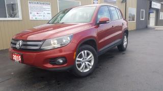 Used 2015 Volkswagen Tiguan Trendline AWD-1 OWNER OFF LEASE-BLUETOOTH for sale in Tilbury, ON