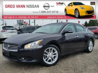 Used 2011 Nissan Maxima 3.5 SV w/all leather,NAV,pwr group,heated seats,climate control,rear cam,sunroof,rear spoiler for sale in Cambridge, ON