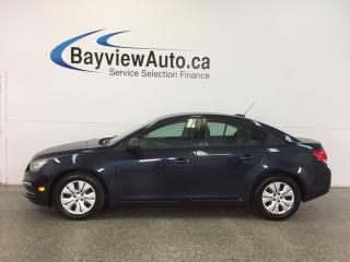 Used 2015 Chevrolet Cruze LS- 1.8L! 6 SPEED! BLUETOOTH! ON STAR! LOW KM'S! for sale in Belleville, ON