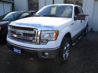 Used 2013 Ford F-150 POWER EQUIPPED XLT MODEL XTR PACKAGE 6 PASSENGER 5.0L - V8.. CREW CAB.. SHORTY.. 4X4.. TONNEAU COVER.. RUNNING BOARDS.. BLUETOOTH.. BACK-UP CAM.. for sale in Bradford, ON