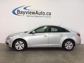 Used 2015 Chevrolet Cruze LT- TURBO 6 SPEED A/C REV CAM BLUETOOTH CRUISE! for sale in Belleville, ON