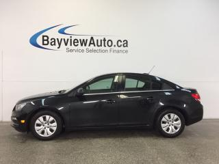 Used 2015 Chevrolet Cruze - 6 SPEED TURBO A/C REV CAM MY LINK CRUISE LOW KM! for sale in Belleville, ON