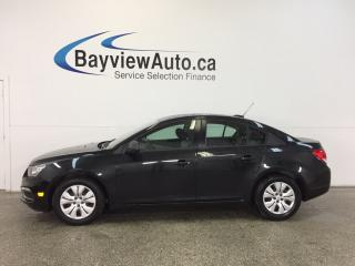 Used 2015 Chevrolet Cruze LS- 1.8L 6 SPEED BLUETOOTH ON STAR LOW KM'S! for sale in Belleville, ON