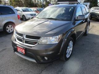 Used 2016 Dodge Journey LOADED 'R/T - AWD MODEL' 7 PASSENGER 3.6L - V6.. BENCH & 3RD ROW.. LEATHER.. HEATED SEATS.. NAVIGATION.. DVD PLAYER.. BACK-UP CAMERA.. for sale in Bradford, ON