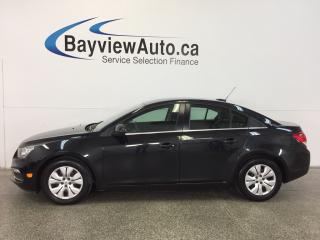 Used 2015 Chevrolet Cruze LT- TURBO 6 SPEED A/C REV CAM MY LINK CRUISE! for sale in Belleville, ON