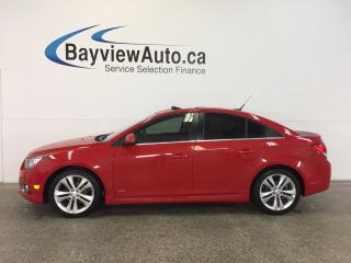 Used 2013 Chevrolet Cruze RS- 6 SPEED TURBO SUNROOF TINT HTD LTHR BLUETOOTH! for sale in Belleville, ON