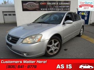 Used 2003 Nissan Altima 3.5 SE  AS IS (UNCERTIFIED) AS TRADED for sale in St Catharines, ON