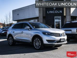 Used 2016 Lincoln MKX Reserve, tech, driver's pk, roof, navi, ext warr for sale in Mississauga, ON