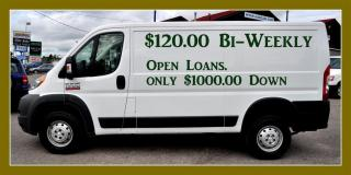 Used 2014 RAM 1500 ProMaster Low Roof. $120.00 Bi weely for sale in Aurora, ON