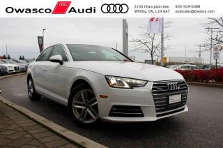 Used 2017 Audi A4 quattro Komfort w/ Audi Pre Sense Basic for sale in Whitby, ON