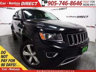 Used 2016 Jeep Grand Cherokee Limited| 4X4| LEATHER| SUNROOF| for sale in Burlington, ON