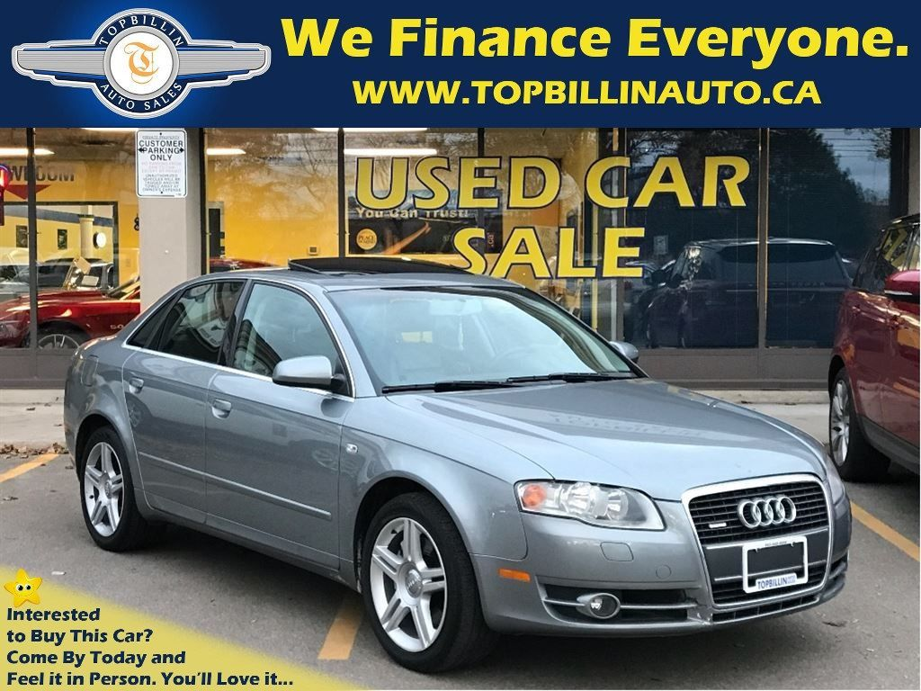 2007 Audi A4 2.0T Quattro LEATHER, SUNROOF 134K kms