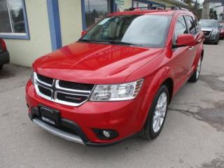 Used 2016 Dodge Journey LOADED R/T - AWD MODEL 7 PASSENGER 3.6L - V6.. BENCH & 3RD ROW.. LEATHER.. HEATED SEATS.. TOUCH SCREEN.. BLUETOOTH.. REAR CLIMATE CONTROLS.. for sale in Bradford, ON