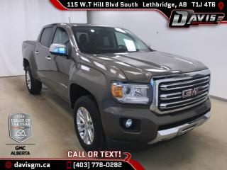 Used 2017 GMC Canyon SLT-Heated Leather Seats, Navigation for sale in Lethbridge, AB
