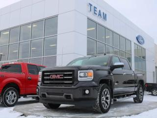 Used 2014 GMC Sierra 1500 SLT, ACCIDENT FREE, BLUETOOTH, HEATED STEERING, HEATED FRONT SEATS, REAR CAMERA, KEYLESS ENTRY, LTHER, 4X4 for sale in Edmonton, AB