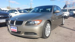 Used 2007 BMW 3 Series 328i, ACCIDENT FREE, ONT. CAR, LEATHER, S-ROOF for sale in North York, ON