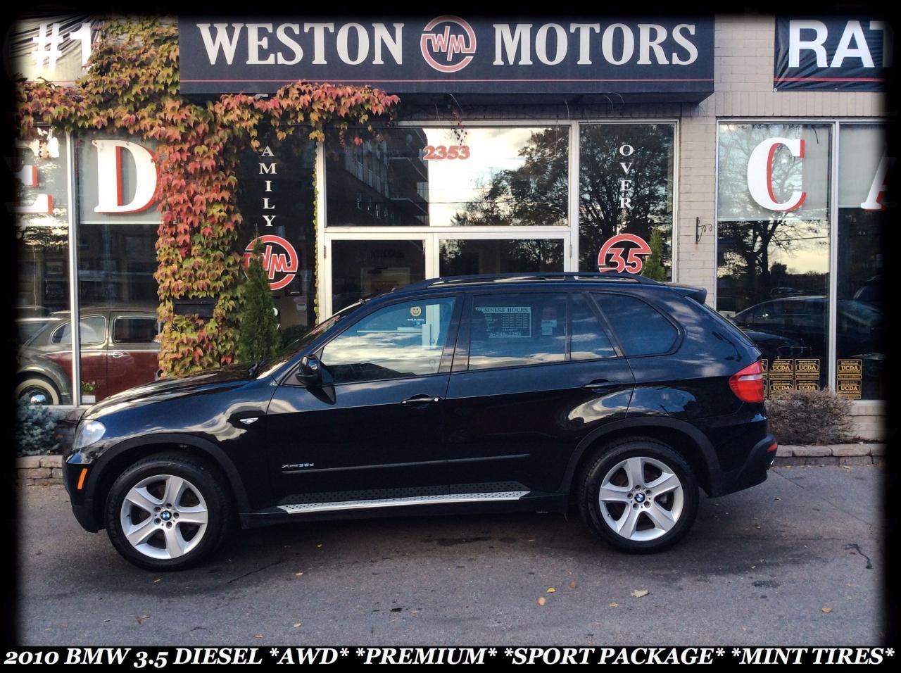 2010 BMW X5 3.5 DIESEL *AWD *PREMIUM *SPORT PKG *MINT TIRES!!!