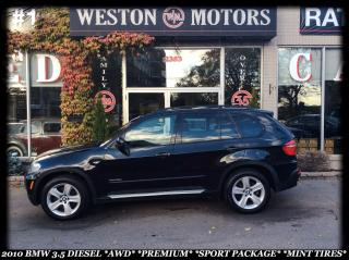 Used 2010 BMW X5 3.5 DIESEL *AWD *PREMIUM *SPORT PKG *MINT TIRES!!! for sale in York, ON