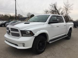 Used 2014 RAM 1500 SPORT * 4WD * LEATHER * NAV * REAR CAM * BLUETOOTH * SAT RADIO SYSTEM for sale in London, ON