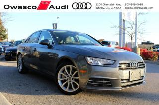 Used 2017 Audi A4 quattro Progressiv w/ Rearview Cam & Navigation for sale in Whitby, ON