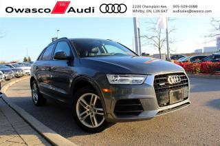 Used 2017 Audi Q3 quattro Komfort w/ Panoramic Glass Roof for sale in Whitby, ON