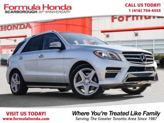 Used 2014 Mercedes-Benz ML-Class $100 PETROCAN CARD YEAR END SPECIAL! for sale in Scarborough, ON