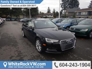 Used 2017 Audi A4 2.0T Progressiv Memory Seat, Radio Data System, Leather Upholstery & Heated Front Seats for sale in Surrey, BC