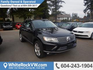 Used 2017 Volkswagen Touareg 3.6L Execline Memory Seat, Navigation & Power Moonroof for sale in Surrey, BC