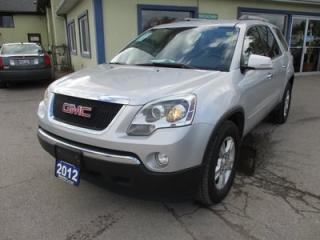 Used 2012 GMC Acadia FAMILY MOVING SLE-2 MODEL 8 PASSENGER 3.6L - V6.. BENCH.. THIRD ROW.. CD/AUX INPUT.. KEYLESS ENTRY.. REAR CLIMATE CONTROLS.. for sale in Bradford, ON