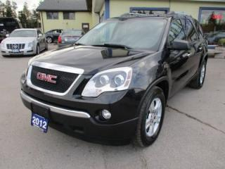 Used 2012 GMC Acadia LOADED SLE MODEL 8 PASSENGER 3.6L - V6.. AWD.. BENCH & 3RD ROW.. LEATHER.. HEATED SEATS.. DVD PLAYER.. for sale in Bradford, ON