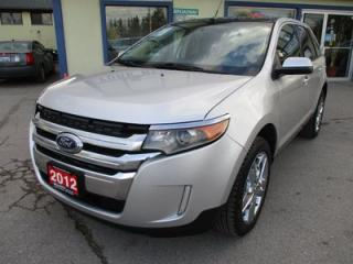 Used 2012 Ford Edge LOADED SEL MODEL 5 PASSENGER 3.5L - V6.. AWD.. LEATHER.. HEATED SEATS.. DUAL SUNROOF.. NAVIGATION.. BACK-UP CAMERA.. for sale in Bradford, ON