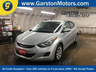 Used 2011 Hyundai Elantra GL*HEATED FRONT SEATS*PHONE CONNECT*AM/FM/CD/AUX/USB/BLUETOOTH*TRACTION CONTROL* for sale in Cambridge, ON