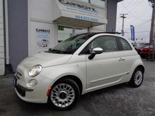 Used 2013 Fiat 500 Lounge Hatch, Power Sunroof, Leather, Alpine for sale in Langley, BC