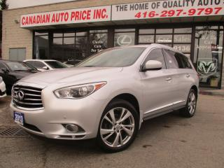 Used 2013 Infiniti JX35 NAVI-TV-DVD'S-AWD-360-CAMERA-7-PASS-LUXURY for sale in Scarborough, ON
