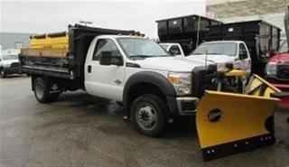 Used 2016 Ford F-550 Reg Cab 4x4 diesel  dump  new V plow New Salter for sale in Richmond Hill, ON