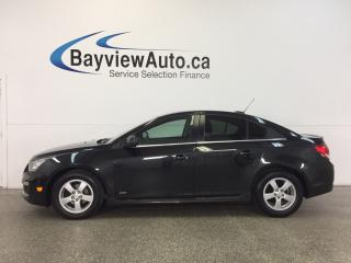 Used 2015 Chevrolet Cruze LT- TURBO 6 SPEED ALLOYS A/C REV CAM MY LINK! for sale in Belleville, ON
